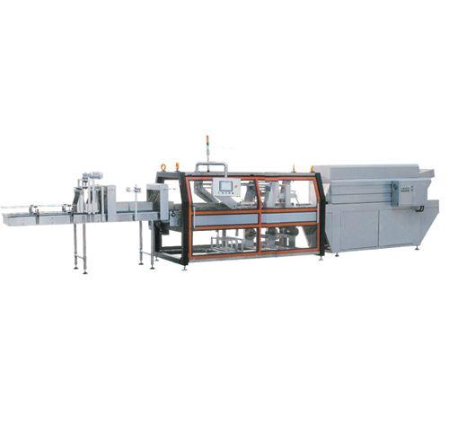 מכונת סליב וסדרן להספקים גבוהים, לבקבוקים כולל מנהרת כיווץ בחום